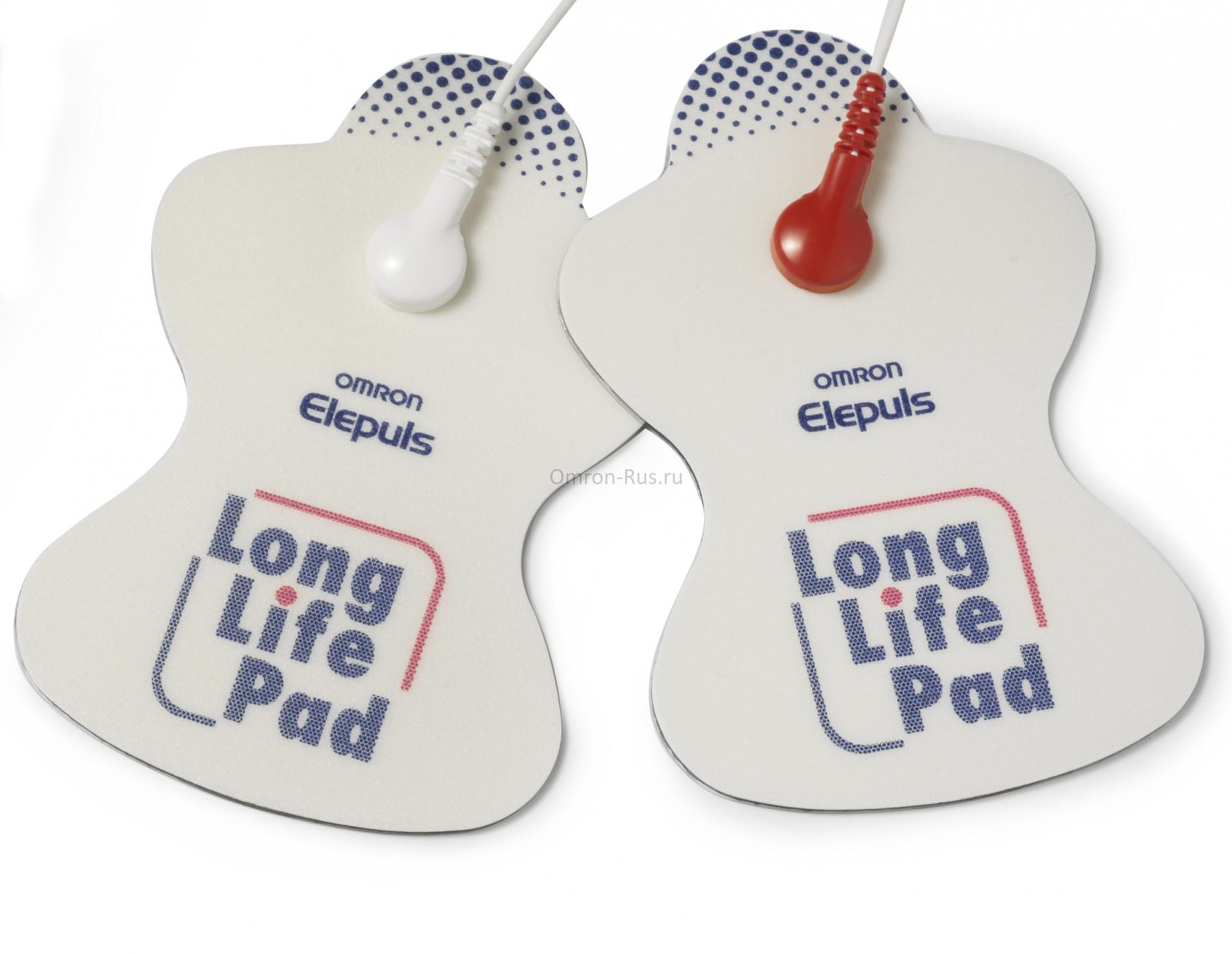 Пластины электродные многоразовые Long Life Pads для миостимуляторов Omron E4, E2 Elite и Soft Touch