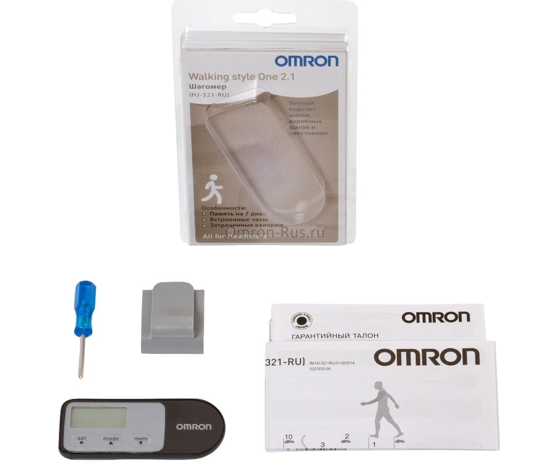 Шагомер Omron Walking Style One 2.1 HJ-321-E
